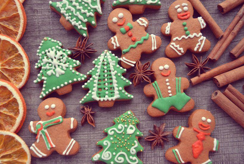 Украшение имбирного печенья к новому году